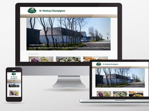 Website og Facebookside til champignonfarm