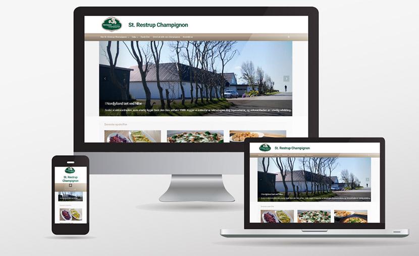 Website til champignonfarm